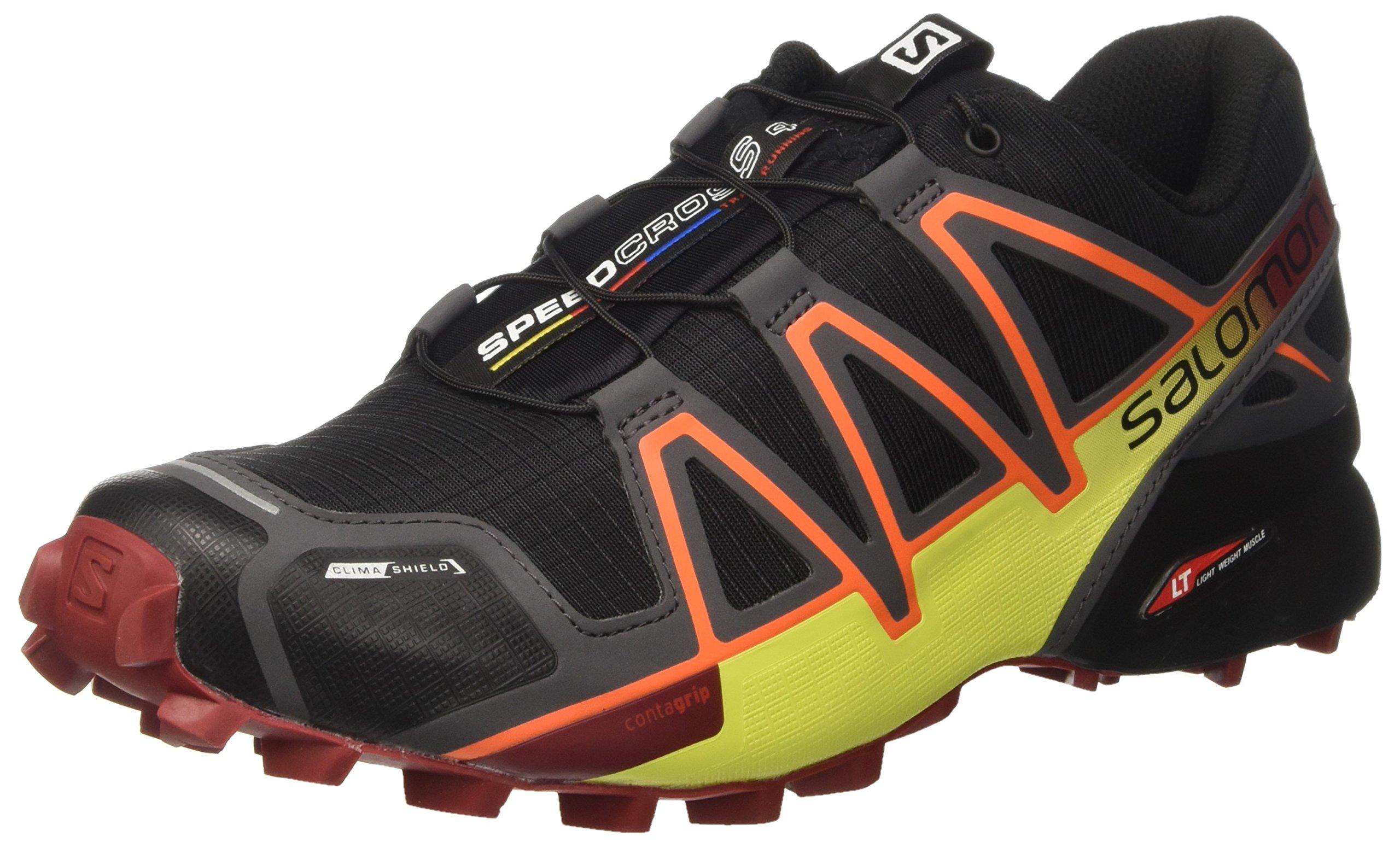 Salomon Men's XA Pro 3D Trail Running Shoes, Black/Magnet/Red Dahlia, 9 D US