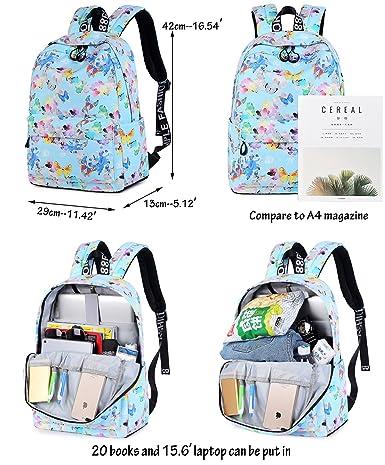 Amazon.com   Tibes Travel Backpack Women School Bags for Teen Girls Gray Purple   Backpacks