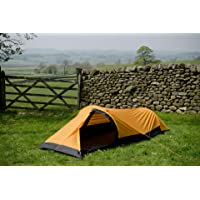 Snugpak Journey Solo 1 Person Bivvi Tent, Waterproof, Lightweight, Sunburst Orange