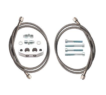 Amazon.com: Dirty Dingo LS Billet Twin Turbo Oil Feed Complete Kit, Supercharger, LS1 Gen 3, Gen 4: Automotive