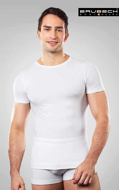 Weich Anti-allergisch Antibakteriell Brubeck/® SS11030 Comfort Wool Herren Kurzarmshirt Funktionsunterw/äsche