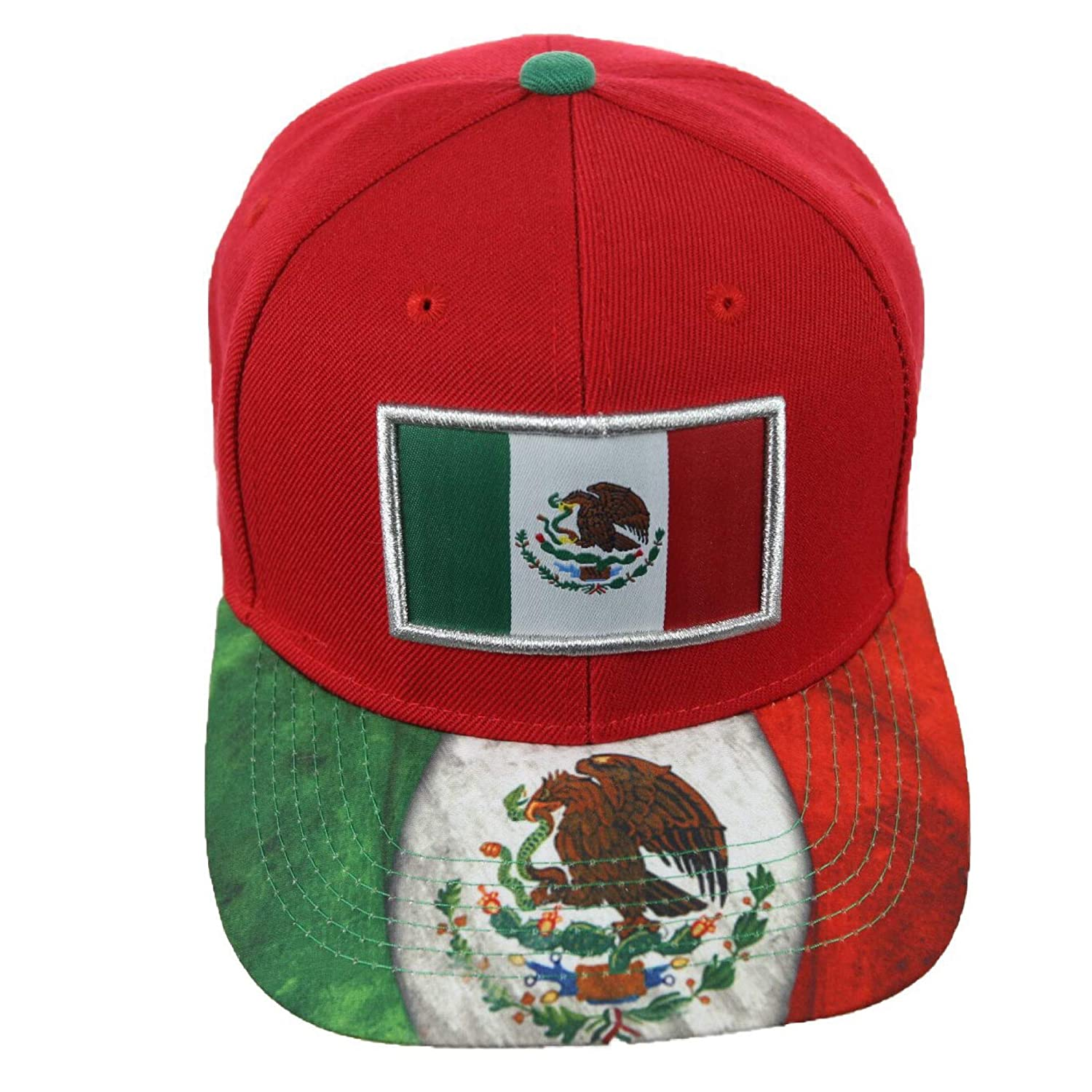 7cd4497e716 Baseball Cap Mexican Flag Mexico Eagle Hat Snapback Hats Casual Caps  (Black) at Amazon Men s Clothing store