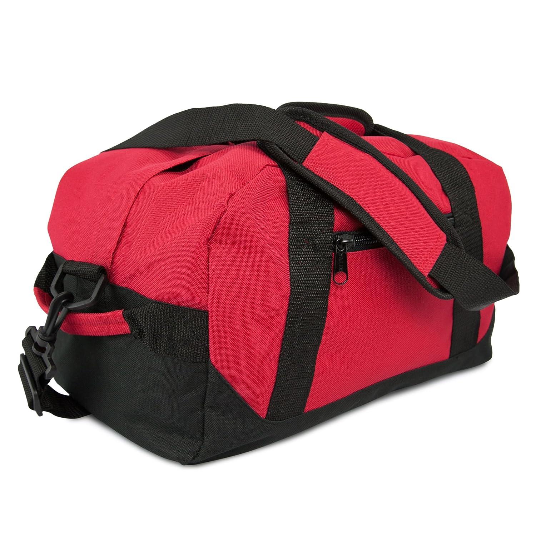 DALIX 14インチ スモールダッフルバック 2色のジム用 旅行用バッグ B008BCXHSQ レッド レッド