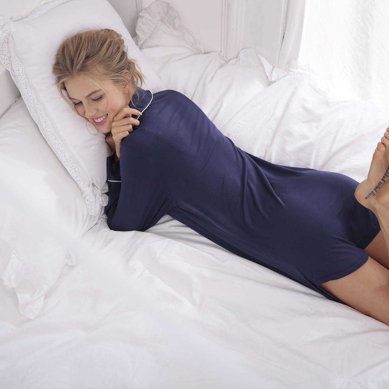 YAN Albornoz de Lujo Señoras Albornoz Cuello Adultos Chal Cuello Albornoz Pijamas de Manga Larga Sexy Home Warm Estilo Invierno Bata de Baño (S, M, L, XL) Vestido de Pareja (Color : azul) 65f964
