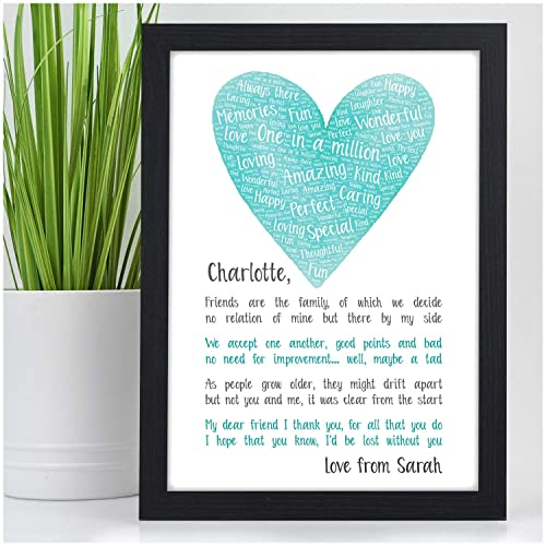 PERSONALISED Best Friends POEM Gifts For Her BFF Special Christmas Birthday Presents KEEPSAKE