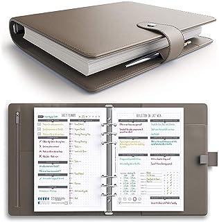Amazon.com : Labons A5 Filofax with Button 6 Round Ring ...