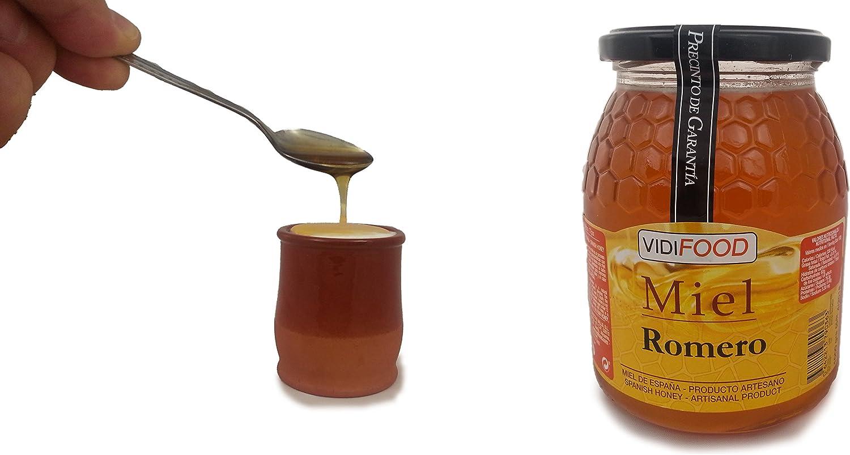 Miel de Romero - 1kg - Producida en España - Alta Calidad, tradicional & 100% pura - Aroma Floral y Sabor Rico y Dulce - Amplia variedad de Deliciosos Sabores: Amazon.es: Alimentación y bebidas