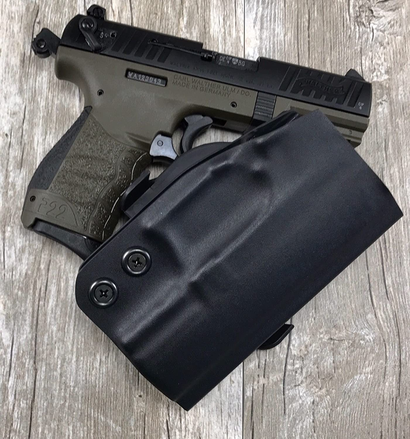 Amazon com : Holster Walther P22 SDH OWB Paddle Holster