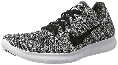 c4a9052e4a870 Nike Free RN Flyknit, Chaussures de Running Mixte Enfant, Blanc (White/Black