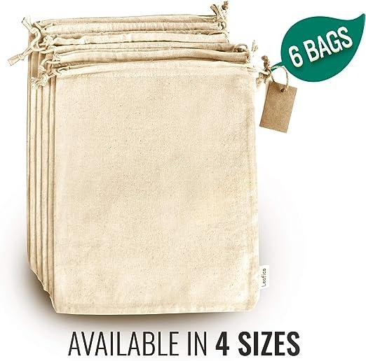 Bolsas reutilizables para productos – Bolsas de tela con cordones ...