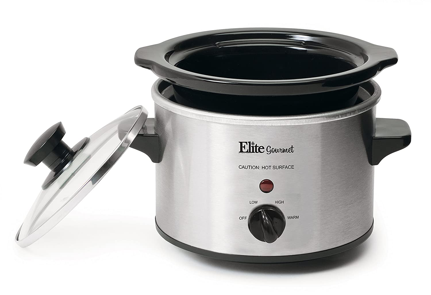 81 FBBNtiXL._SL1500_ amazon com elite gourmet mst 250xs 1 5 quart slow cooker, silver Crock Pot Manual PDF at crackthecode.co