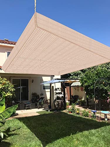 HENG FENG Sun Shade Sail 10'x10' Monterey Square Outdoor Shade Cloth Pergola Cover UV Block