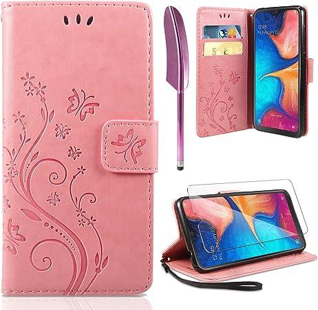 Ivencase Lederhülle Kompatibel Mit Samsung Galaxy A20e Elektronik