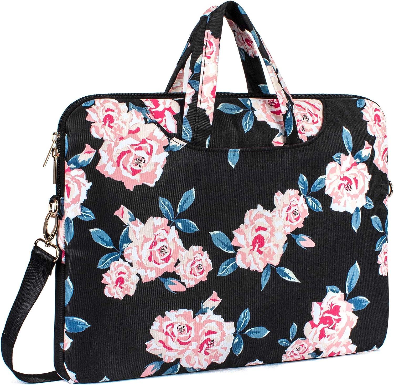 TOPERIN Water-Resistant Laptop Shoulder Messenger Bag Laptop Briefcase Black