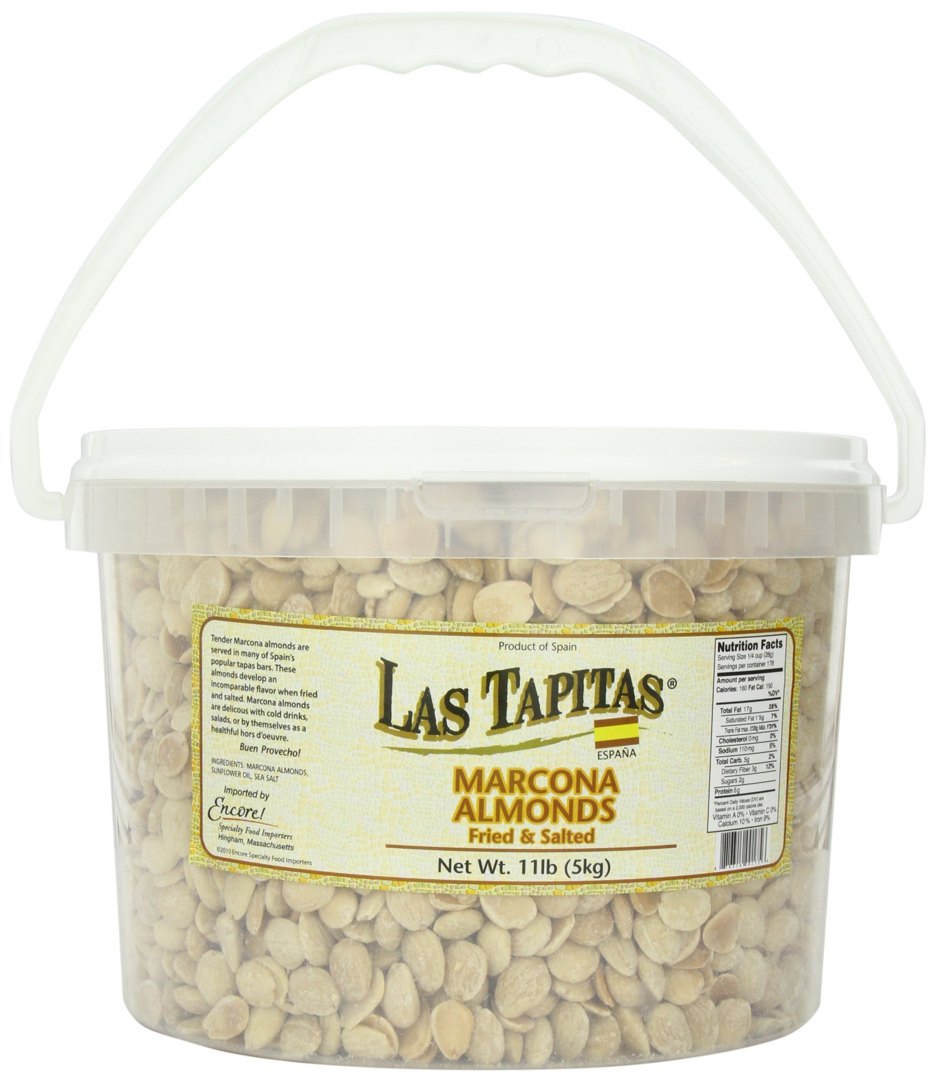 Las Tapitas Marcona Almonds, 11-Pound