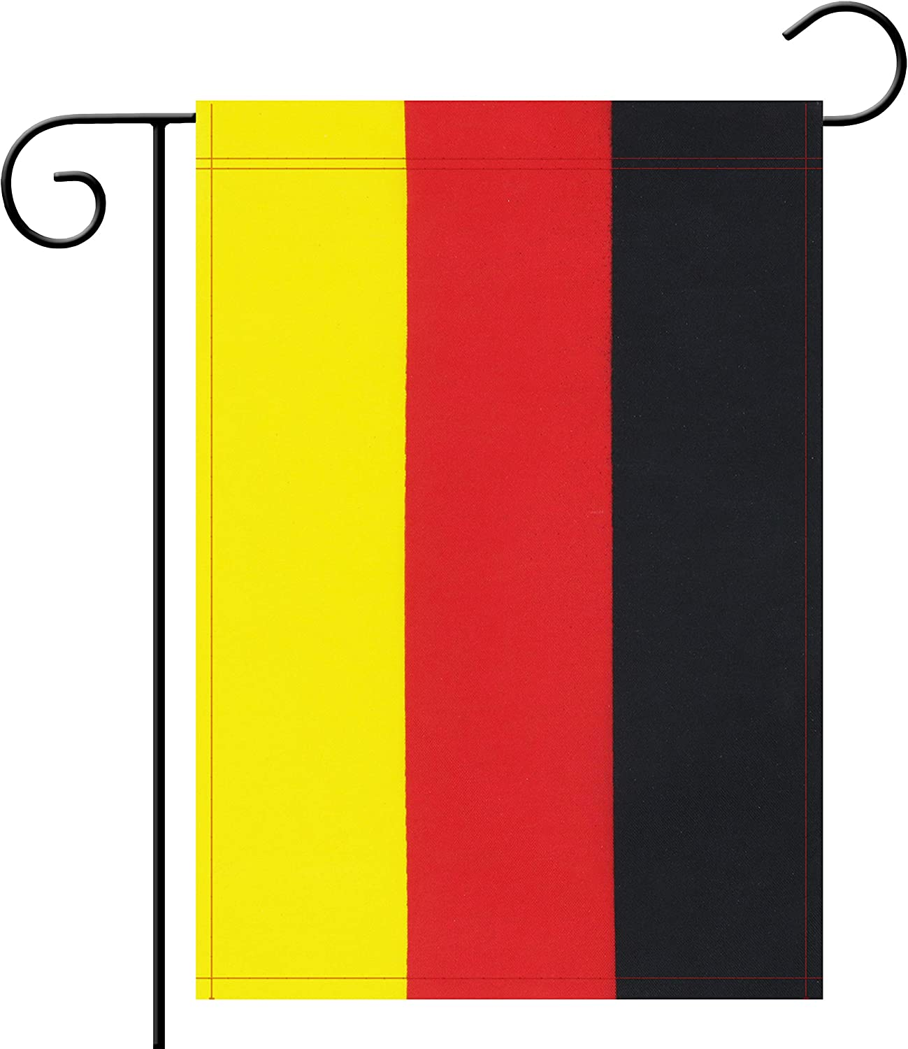 No Logo Garden Flag Germany German Garden Flag,Garden Decoration Flag,Indoor and Outdoor Flags,Celebration Parade Flags,Anniversary Celebration, National Day,Double-Sided.