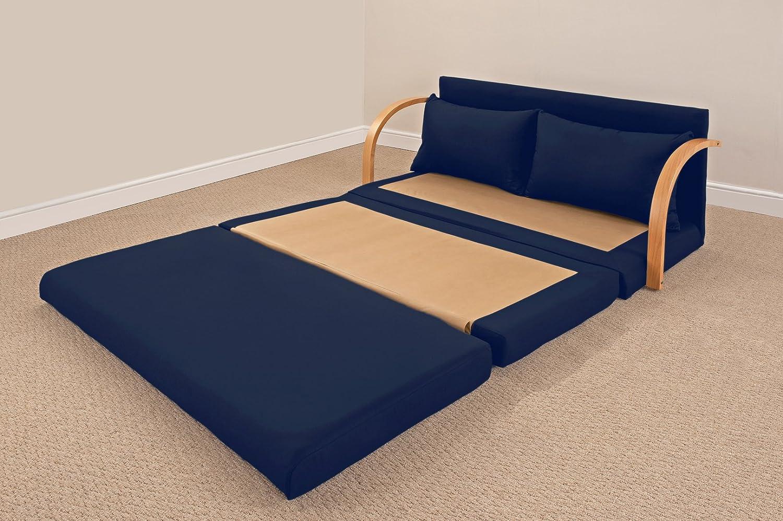 Fold Out Double Foam Sofa Bed Chloe NAVY Amazon Kitchen