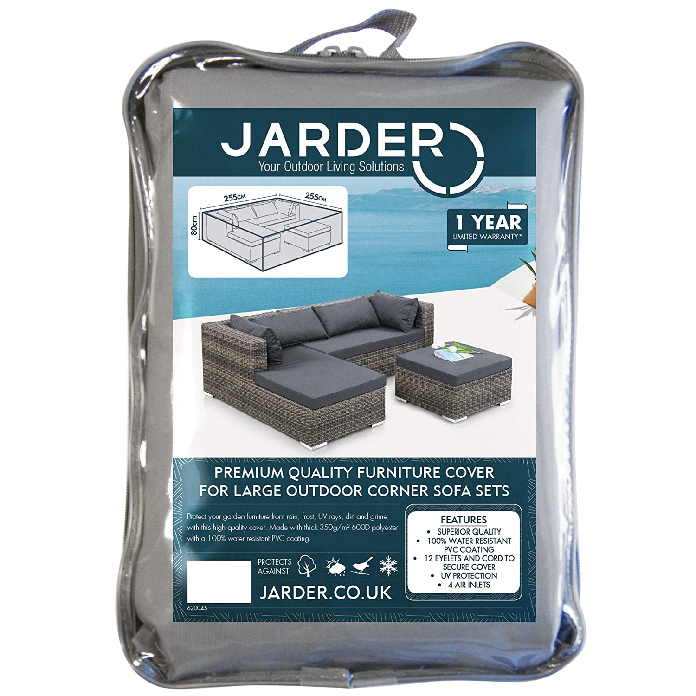 100/% Water Resistant Protection for Outdoor Furniture Sets Jarder Garden Corner Sofa Set Cover