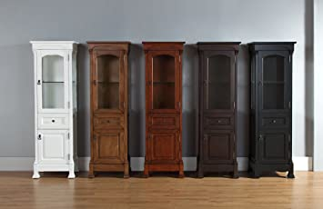 james martin 147 114 5036 brookfield linen cabinet antique black amazon com  james martin 147 114 5036 brookfield linen cabinet      rh   amazon com