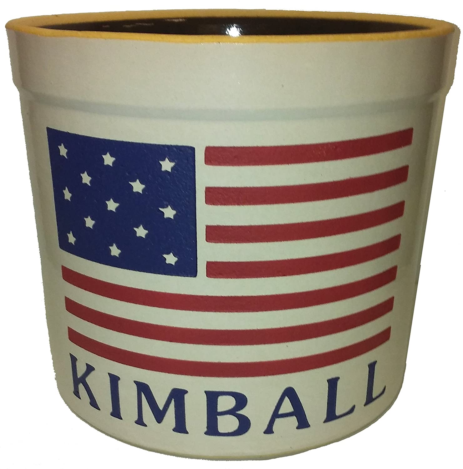 1 Gallon Personalized Stoneware Crock – American Flag
