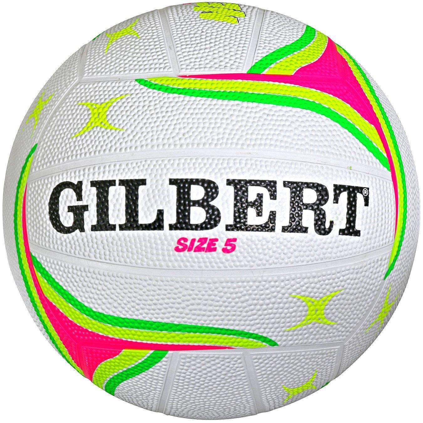 Gilbert APT Outdoor Netball Training/Practice Balls - FLUORO Size 5