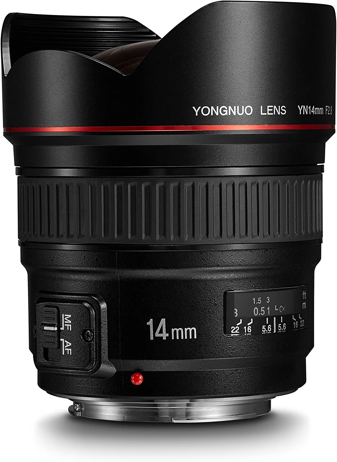 YONGNUO YN14mm F2.8 Ultra-Wide Angle Prime Lens for Canon DSLR Cameras