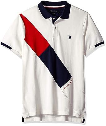 U.S. Polo Assn. Hombre 11-8824-88 Manga Corta Camisa Polo - Blanco ...