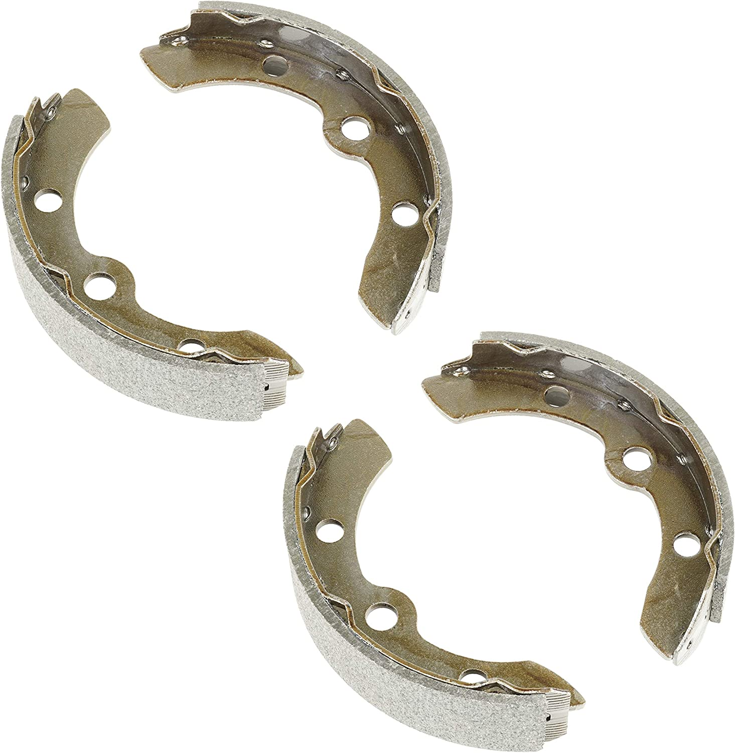 Caltric Brake Shoe Compatible with Yamaha J17-25340-00 J55-W2536-00 2 Set of Short and Long Shoe
