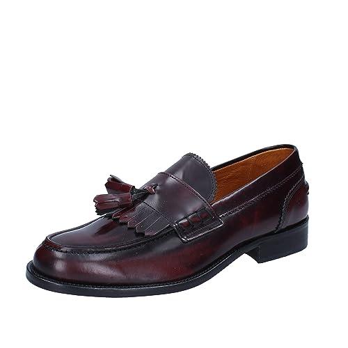 J. BREITLIN Mocasines de Piel Para Hombre Morado Burdeos Morado Size: 42: Amazon.es: Zapatos y complementos