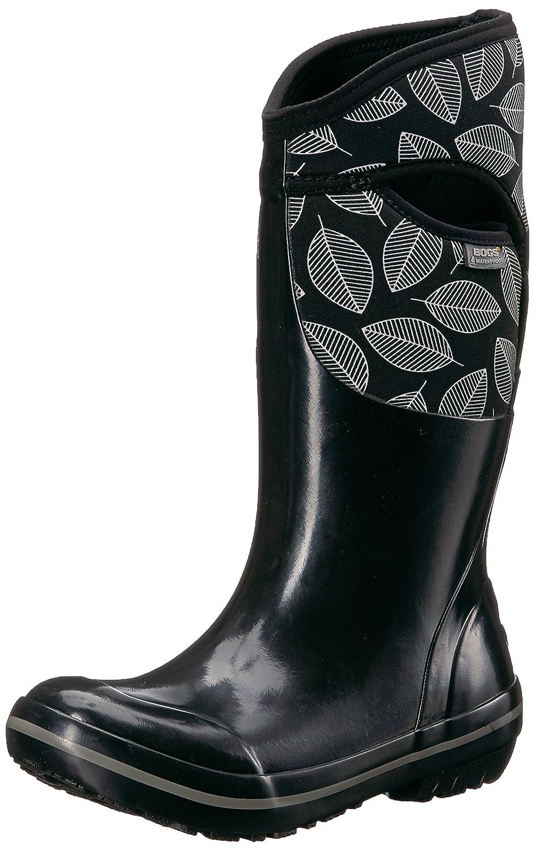 Bogs Women's Plimsoll Leafy Tall Snow Boot B01NCZ0XYW 8 B(M) US|Black/Multi