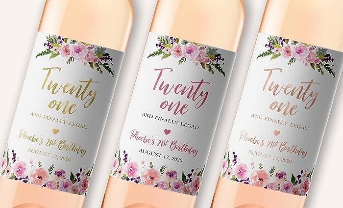 Amazoncom 21st Birthday Wine Label Twenty One And Finally Legal