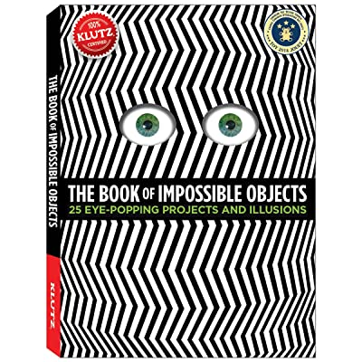 Klutz The Book of Impossible Objects: 25 Eye-Popping Projects to Make, See & Do Craft Kit: Murphy, Pat: Toys & Games