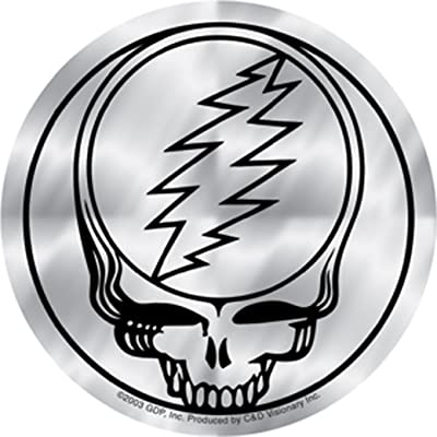Licenses Products Grateful Dead Steal Your Face Sticker, Chrome: Toys & Games