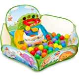 VTech Drop N Pop 3-foot Wide, Durable, Jungle-themed Mesh and Fabric Panel Enclosed Ball Pit in Green