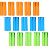 KLOUD City® Pack of 30 Assorted Colors Plastic Pencil Cap Pencil Shield Pencil Extender Holder