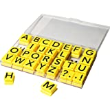 Educational Insights Alphabet Rubber Stamps Jumbo - Uppercase 1""