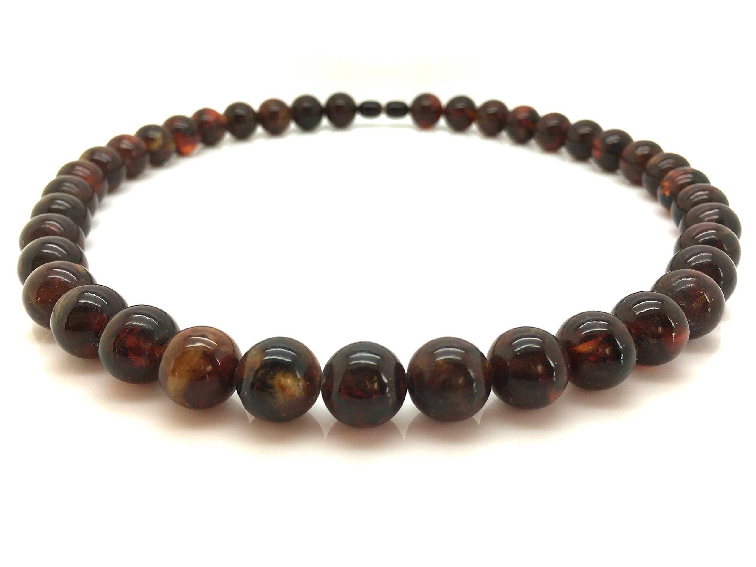 Natural Baltic Amber Necklace Cognac Colour 49,2g 13± mm Size.