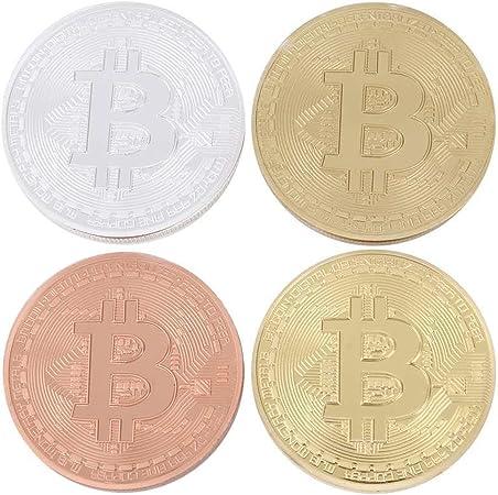 Juego de 2 dorado y bañado en plata Bitcoin redondo coleccionistas ...