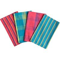 Lushomes Cotton Color Waffle Kitchen Cleaning Towels (Pack of 4 Kitchen Napkin)
