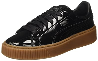 Puma Basket Platform Patent Women s Sneakers (363314)  Amazon.co.uk ... 4d9852190