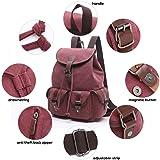 Women Canvas Backpack Retro Travel Rucksack Leather School Backpack for Grils Hiking Daypacks Jeans Bag Casual Satchel Bookbag
