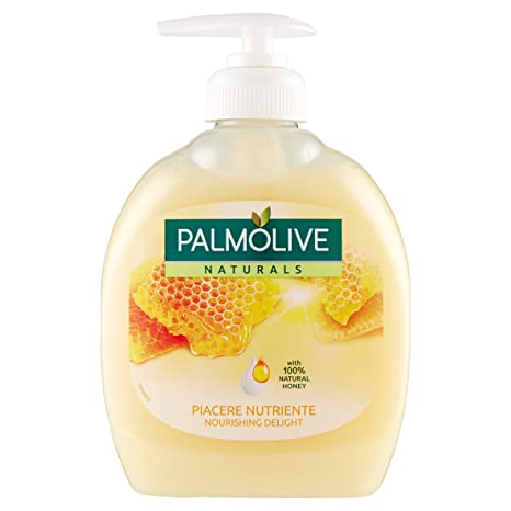 Palmolive Jabón Líquido Leche y Miel Dispensador – Paquete de 12 x 300 ml – Total
