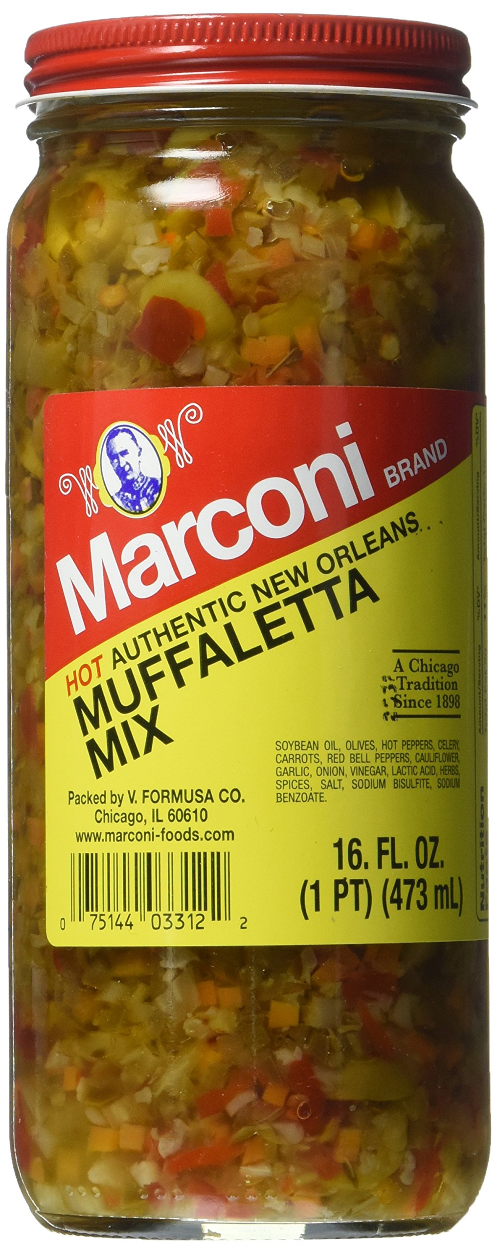 Marconi Hot Muffaletta, 16 Ounce by Marconi