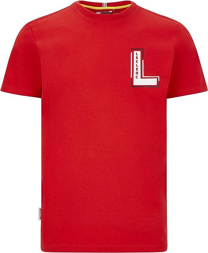 S Gr Ferrari Scuderia F1 Herren T-Shirt Schwarz // Rot
