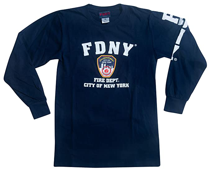 FDNY T-Shirt Long Sleeve Officially Licensed by New York City Fire Department