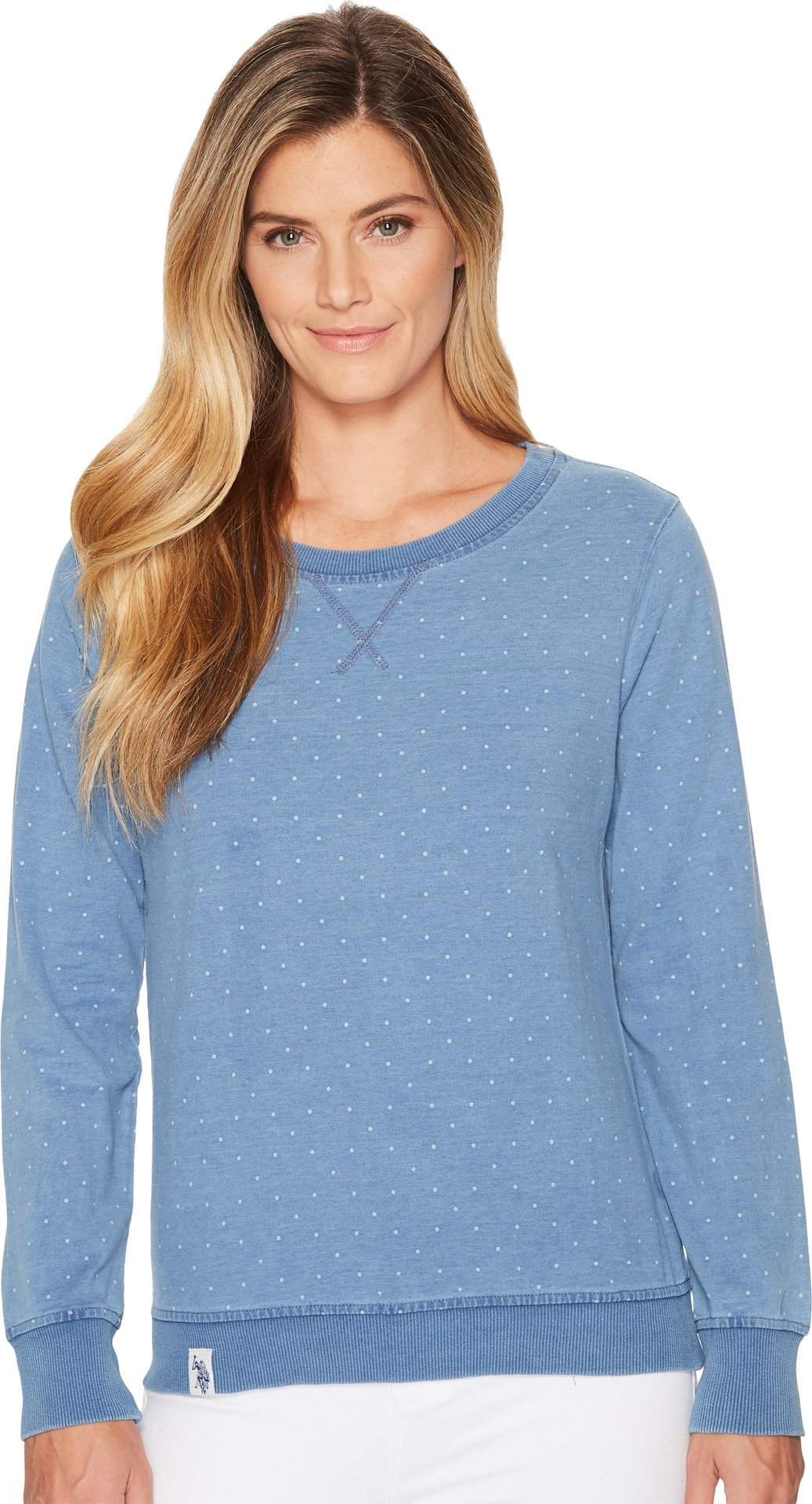 U.S. Polo Assn. Women's Knitted Sweatshirt Blue X-Large