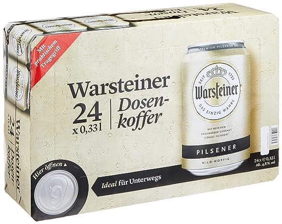 Warsteiner Premium Pilsener Dosenkoffer Premium Verum Internationales Bier Nach Deutschem Reinheitsgebot Einweg 24 X 033 Liter
