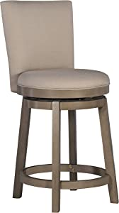 Powell Furniture Big and Tall Davis Counter Stool, Multicolor
