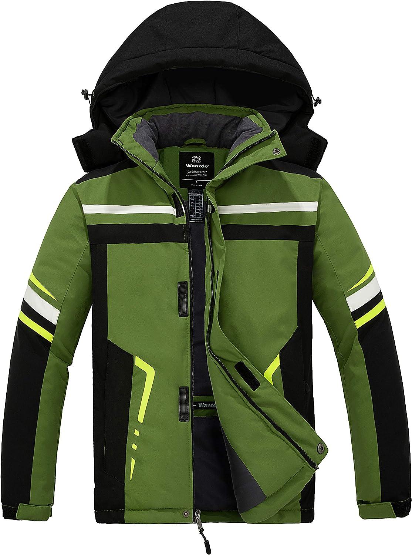 Wantdo Men's Windproof Snowboarding Jacket Mountain Waterproof Ski Jacket Warm Winter Snow Coat