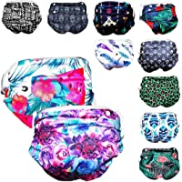 Will & Fox Reusable Swim Diaper for Baby Girl (2 Pack) Adjusts to 3 Sizes: Fits Baby to Toddler (Newborn - 3 Years 36…